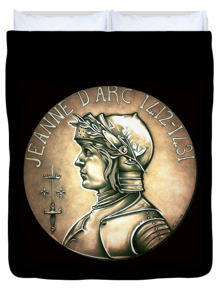 Saint Joan Of Arc Duvet Cover by Fred Larucci