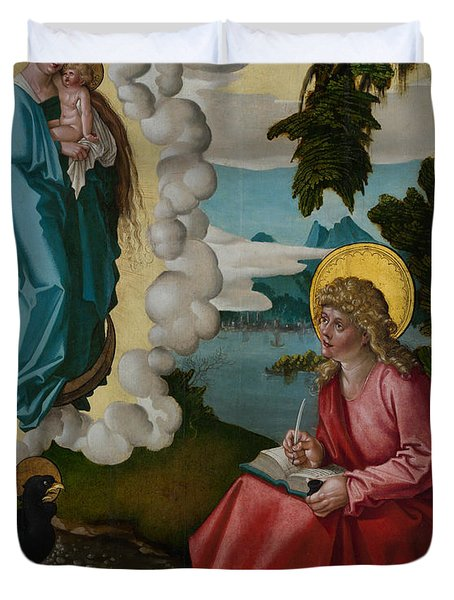 Saint John On Patmos Duvet Cover