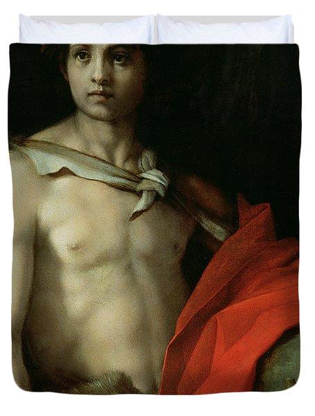 Saint John The Baptist  Duvet Cover by Andrea del Sarto
