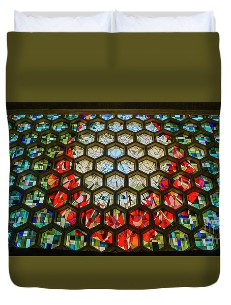 Saint John's University Abbey Stained Glass Magic Duvet Cover