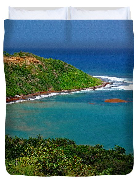 Saint Kitts Coastal View Duvet Cover