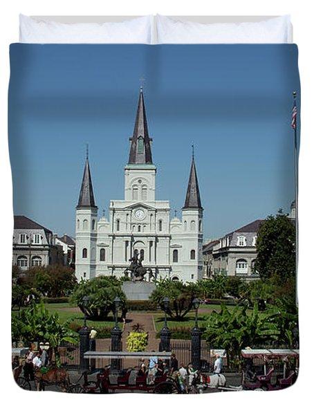 Saint Lewis Cathedral French Quarter New Orleans, La Duvet Cover