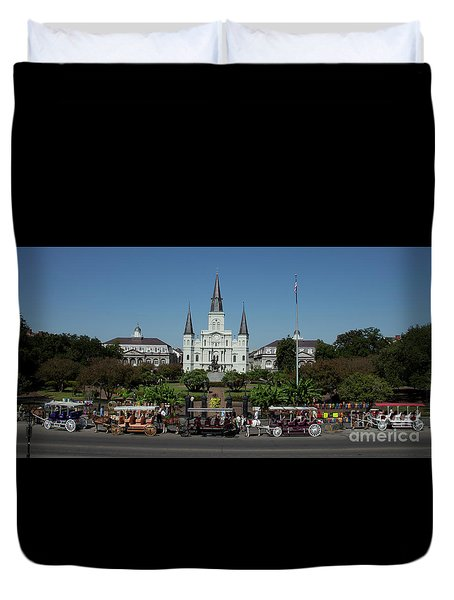 Saint Lewis Cathedral French Quarter New Orleans, La Duvet Cover