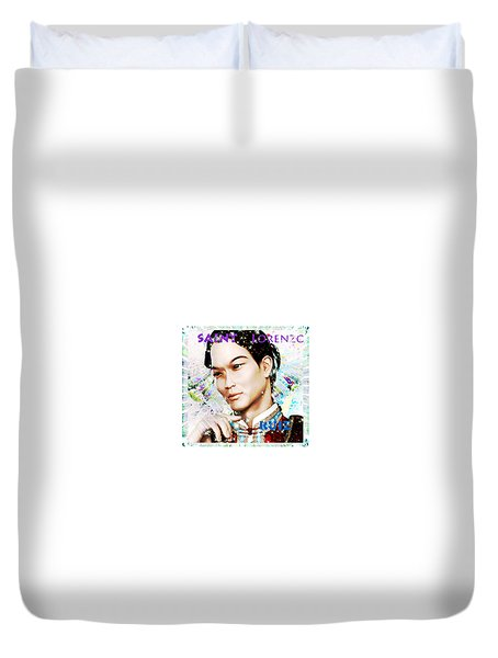 Duvet Cover featuring the painting Saint Lorenzo Ruiz Of The Philippines by Suzanne Silvir