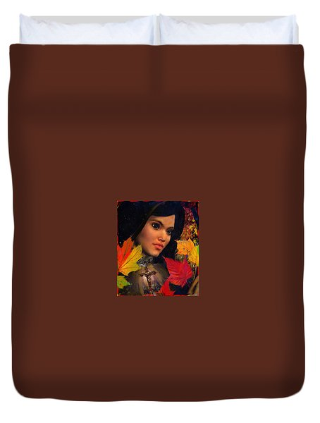 Duvet Cover featuring the painting Saint Magdalene Of Nagasaki October Vision by Suzanne Silvir