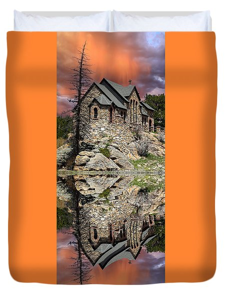 Duvet Cover featuring the photograph Saint Malo Panorama by Shane Bechler