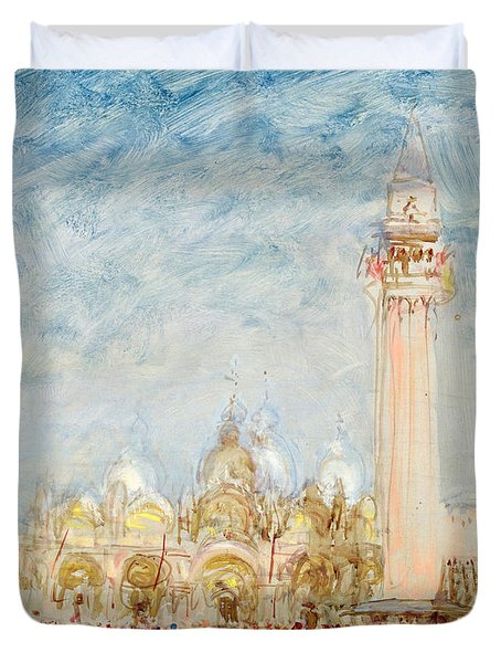 Saint Mark's Square In Venice Duvet Cover