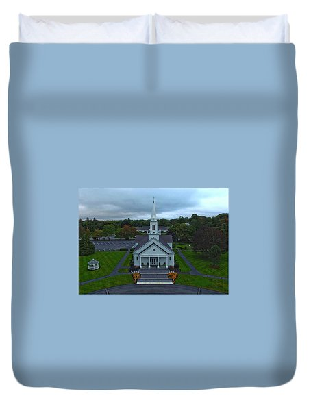 Saint Mary's Church From Above Duvet Cover