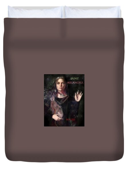 Saint Melangell Of Wales Duvet Cover by Suzanne Silvir