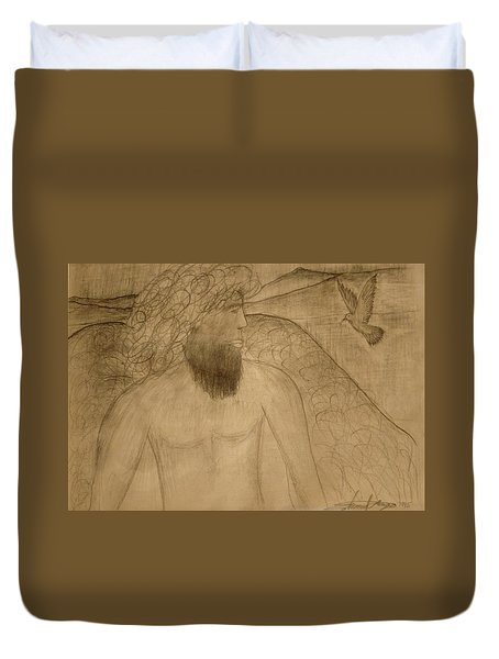 Saint Michael The Archangel Duvet Cover