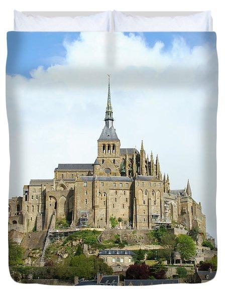 Saint Michel Mount, France Duvet Cover