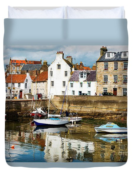 Duvet Cover featuring the photograph Saint Monans by MaryJane Armstrong