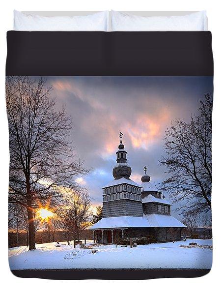 Saint Nicholas Chapel Duvet Cover