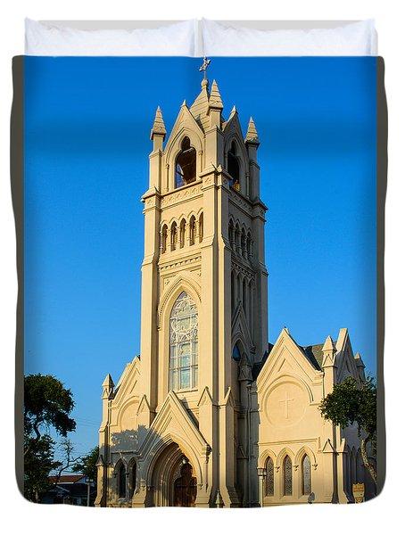 Saint Patrick Catholic Church Of Galveston Duvet Cover by Tikvah's Hope
