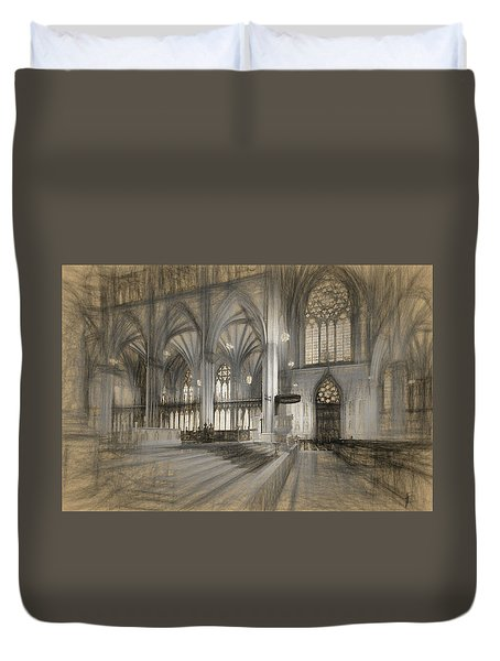 Saint Patrick's Cathedral In New York City Duvet Cover