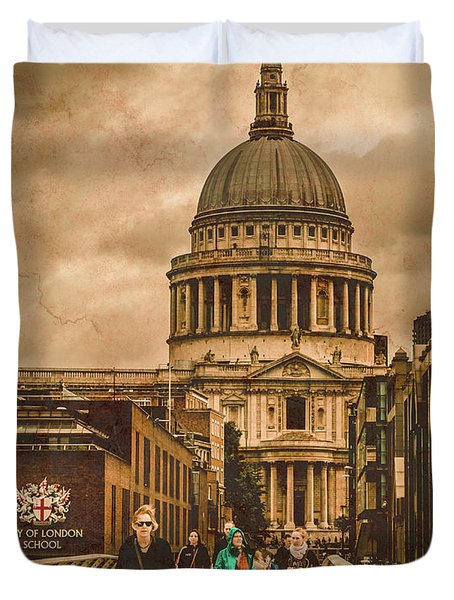 London, England - Saint Paul's In The City Duvet Cover