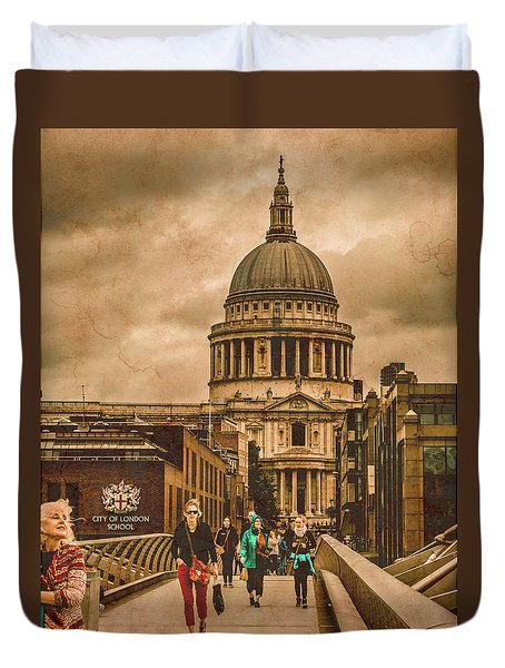 London, England - Saint Paul's In The City Duvet Cover