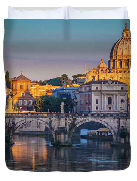 Saint Peters Basilica Duvet Cover