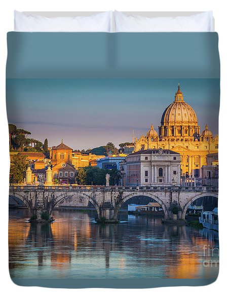 Saint Peters Basilica Duvet Cover