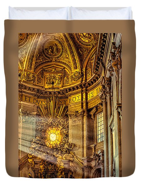 Saint Peter's Chair Duvet Cover