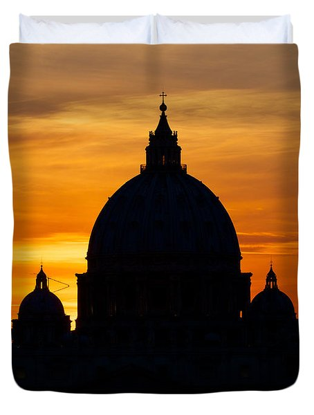Saint Peters Sunset Duvet Cover
