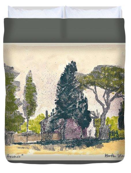 Duvet Cover featuring the painting Saint Remy De Provence Landscape by Martin Stankewitz
