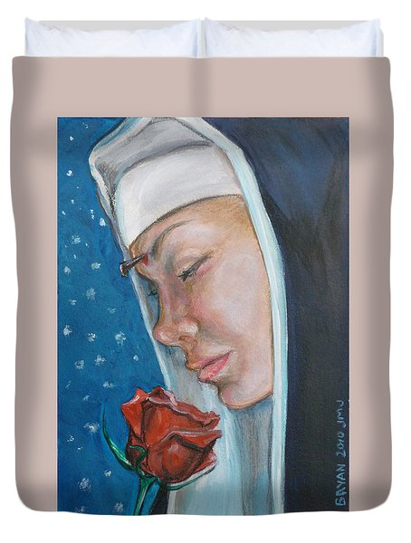 Saint Rita Of Cascia Duvet Cover