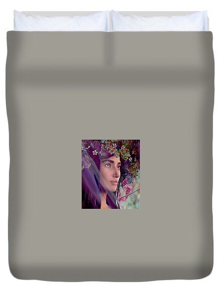 Saint Rose Of Lima 4 Duvet Cover by Suzanne Silvir