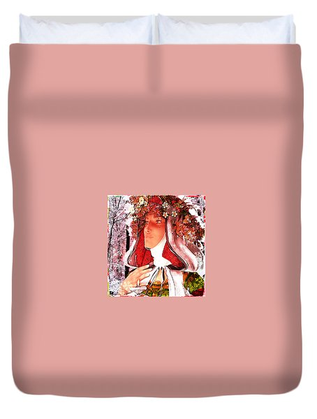 Saint Rose Of Lima Noel Duvet Cover by Suzanne Silvir