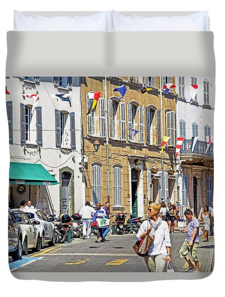 Saint Tropez Moment Duvet Cover