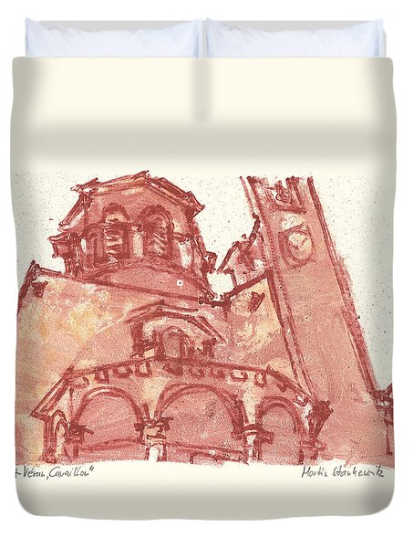 Duvet Cover featuring the painting Saint Veran Cavaillon by Martin Stankewitz
