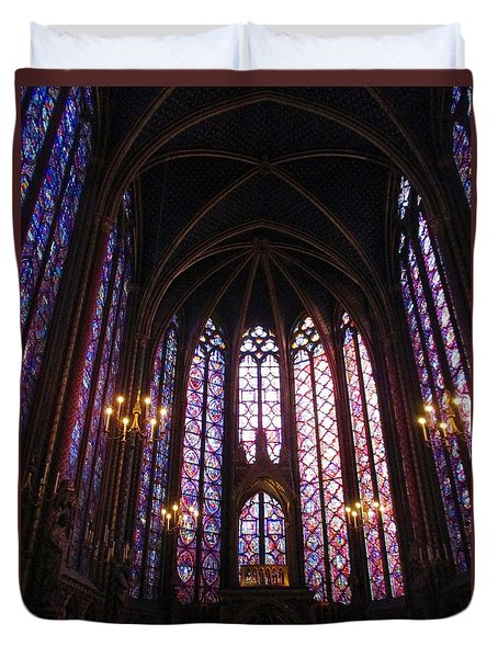 Duvet Cover featuring the photograph Sainte-chapelle by Christopher Kirby