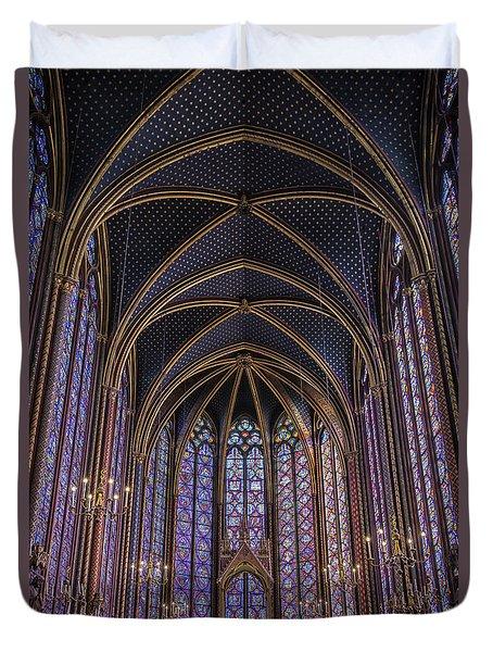Sainte Chapelle Stained Glass Paris Duvet Cover