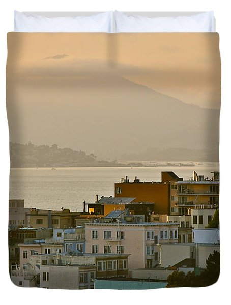 Saints Peter And Paul Spires Duvet Cover by Eric Tressler
