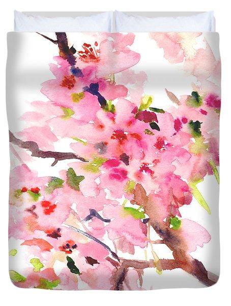 Sakura Cherry Blossom Duvet Cover by Suren Nersisyan