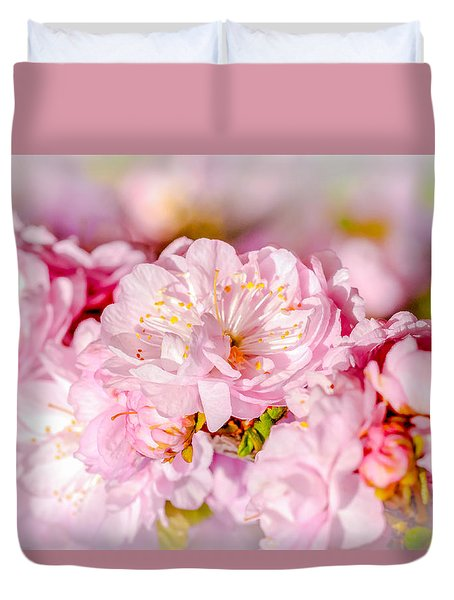 Sakura Cherry Flower - Wedding Bouquet Duvet Cover