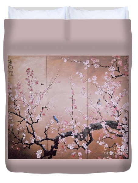 Sakura - Cherry Trees In Bloom Duvet Cover