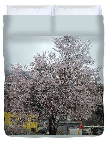 Sakura, Japan's Ephemeral Also Beautiful Flowers Duvet Cover
