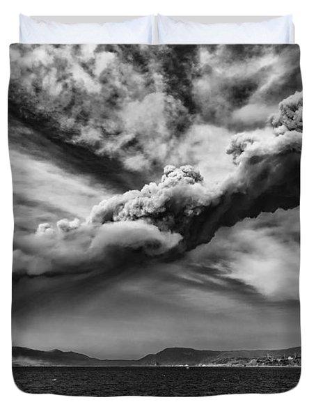 Sakurajima Volcano Duvet Cover