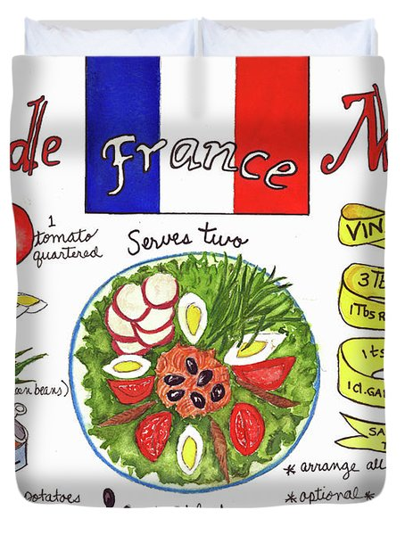 Salade Nicoise Duvet Cover