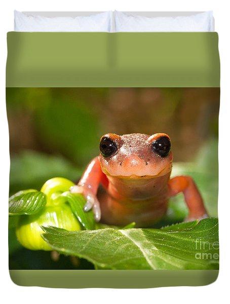Salamander Smile Duvet Cover