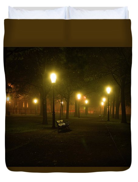 Salem At Night Duvet Cover
