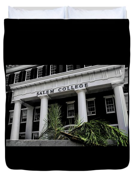 Duvet Cover featuring the photograph Salem College by Jessica Brawley