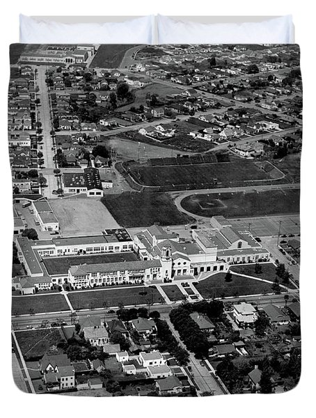 Salinas High School 726 S. Main Street, Salinas Circa 1950 Duvet Cover