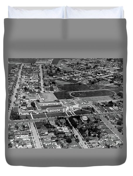 Salinas High School 726 S. Main Street, Salinas Circa 1950 Duvet Cover