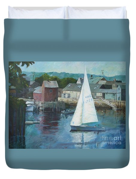 Saling In Rockport Ma Duvet Cover
