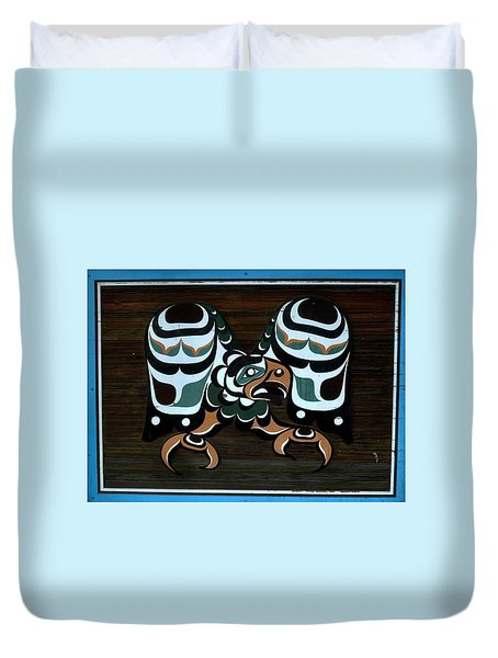 Duvet Cover featuring the photograph Salish Painting by 'REA' Gallery