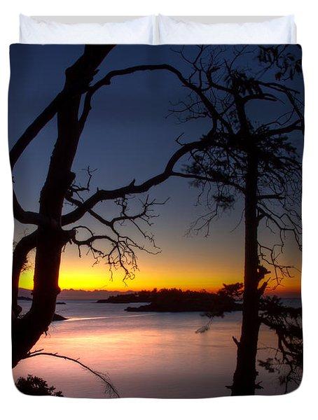 Salish Sunrise Duvet Cover