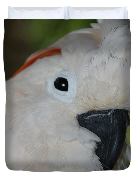Salmon Crested Cockatoo Duvet Cover by Sharon Mau
