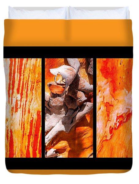 Salmon Gum Tree Triptych #2 Duvet Cover